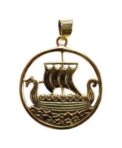 Bronze Viking Ship Necklace