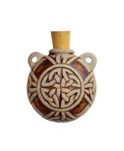 Celtic Knot Raku Bottle Necklace