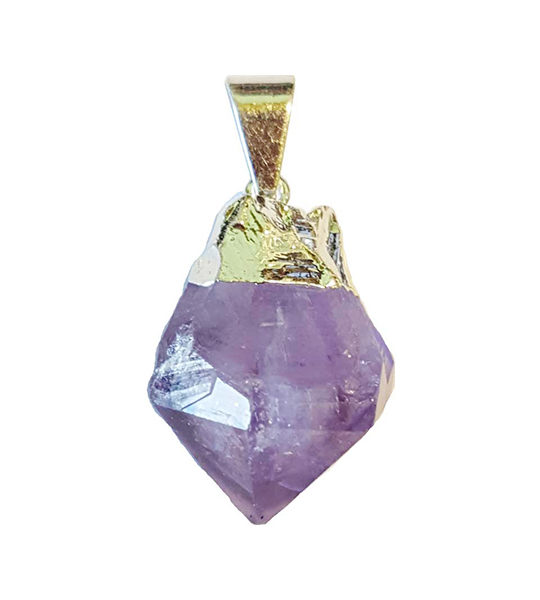 Amethyst Polished Point Pendant