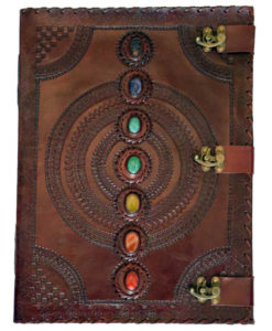Chakra 7 Stone Leather Journal Book of Shadows
