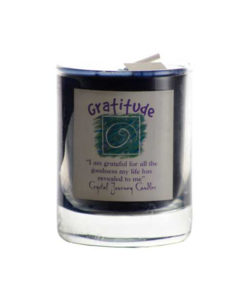 gratitude crystal journey candle