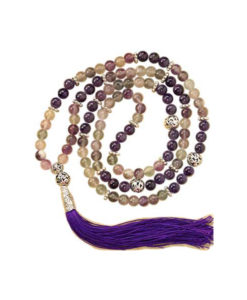 Amethyst and Fluorite Fancy Mala
