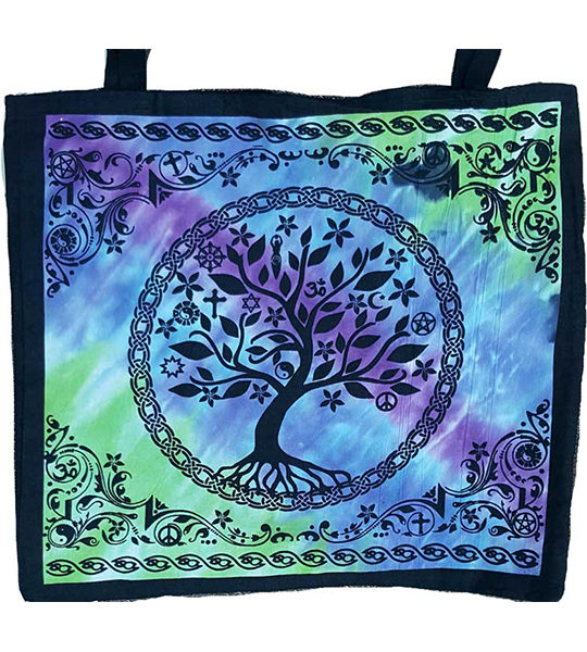 coexist tree of life canvas totebag