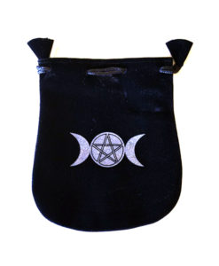 Triple Moon and Pentacle Wiccan Tarot Bag