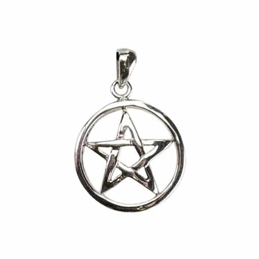 Pentacle Sterling Silver Necklace Wiccan Jewelry