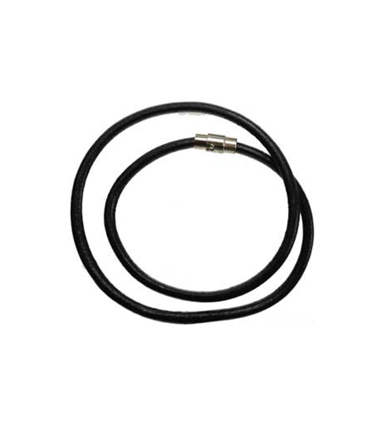 Thick Black Leather Necklace Cord 18