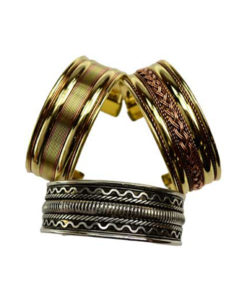 Assorted Two Tone Bangle Cuff Bracelets