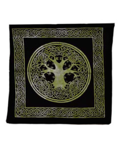 Green black tree of life wiccan tote bag