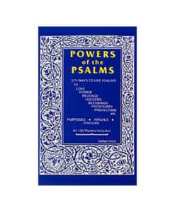 Powers of the Psalms bible spell book