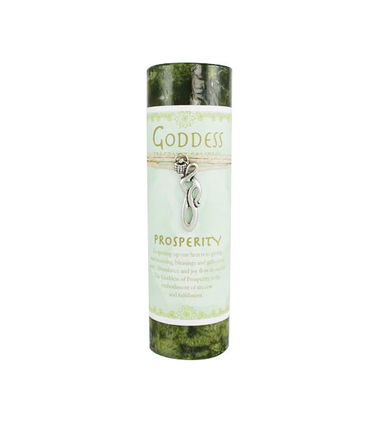 Prosperity Pillar Spell Candle with Goddess Necklace