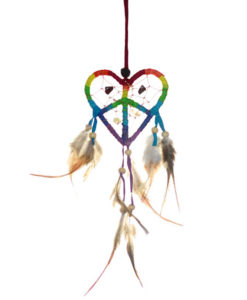 Rainbow Love and Peace Dream Catcher