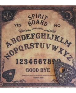 square shaped wooden spirit board