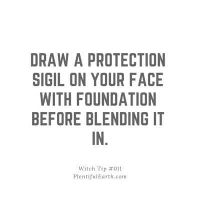 Beauty Tip for Instagram: Draw a protection sigil on your face with foundation before blending it in.